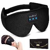LC-dolida Schlafkopfhörer Bluetooth Schlafmaske Musik Augenmaske Lichtblockierende Schlafbrille mit kabellosen 5.0 Headset, Weich & Bequem für Nickerchen, Schlafen, Yoga und Reisen, Waschbar