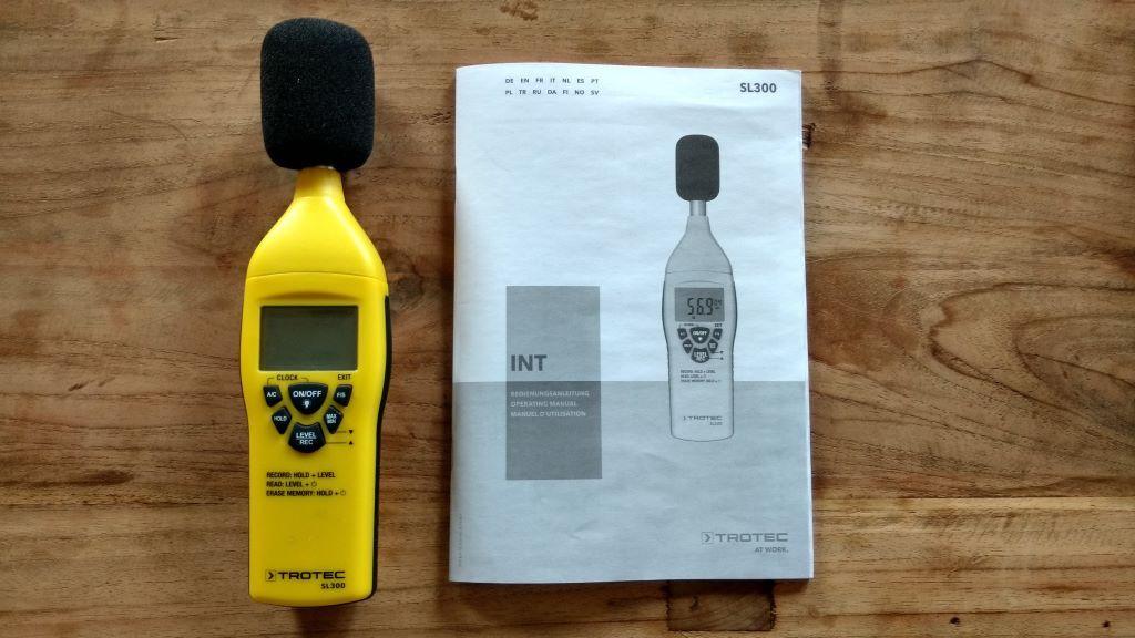 TROTEC SL300 Schallpegelmessgerät mit Bedienungsanleitung