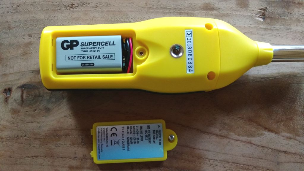 Sound level meter TROTEC SL300 battery compartment