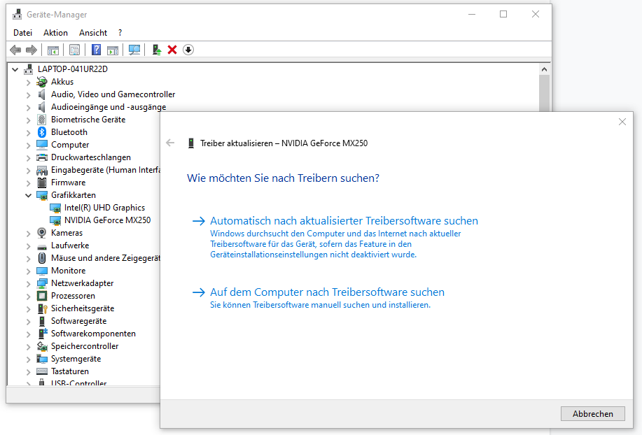 Windows 10 Gerätemanager